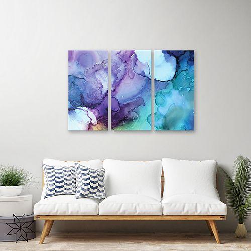 Artissimo Designs Card Triptych Wall Art 3-piece Set
