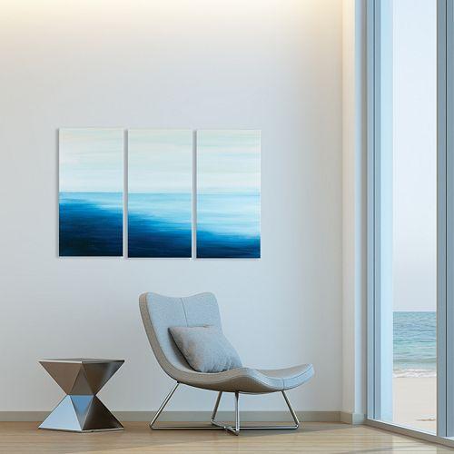 Artissimo Designs High Tide Triptych Wall Art 3-piece Set