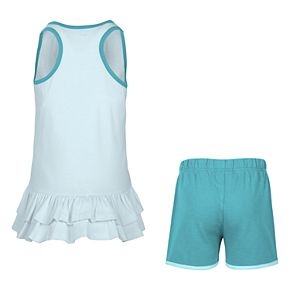 "Girls 4-6x Nike ""My Way All Day"" Glittery Graphic Tank Top & Shorts Set"