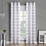 No. 918 Barkley Trellis Semi-Sheer Grommet Curtain Panel