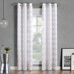 No. 918 Barkley Trellis Semi-Sheer Window Curtain