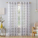 No. 918 Powell Trellis Sheer Window Curtain