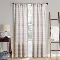 No. 918 Sebastian Plaid Semi-Sheer Window Curtain