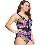 Women's Mazu Swim Waist Minimizer Printed One-Piece Swimsuit