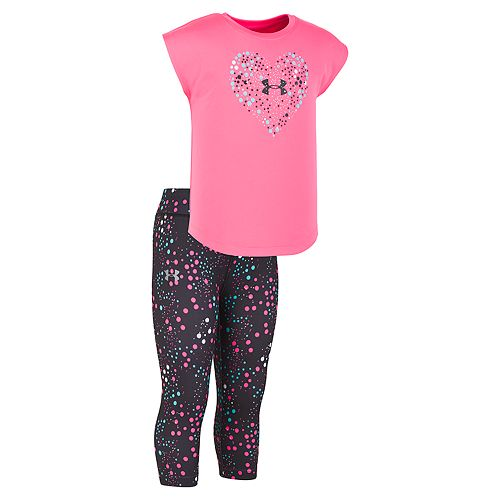 88eca5dd512d13 Toddler Girl Under Armour Constellation Heart Tee & Leggings Set