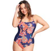 Plus Size Mazu Swim Waist Minimizer Paisley One-Piece Swimsuit