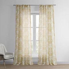 EFF Damacus Printed Sheer Window Curtain