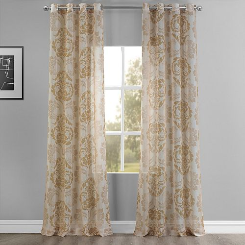 EFF Damacus Grommet Printed Sheer Window Curtain