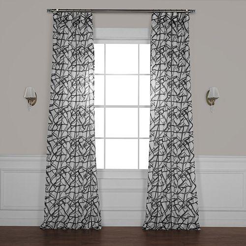 EFF Matrix Printed Sheer Window Curtain
