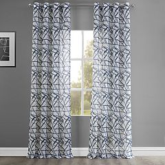 EFF Matrix Grommet Printed Sheer Window Curtain