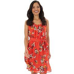 Women's Apt. 9® Crepon Fit & Flare Dress