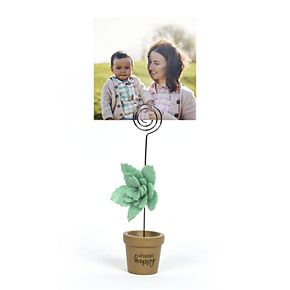 New View Gifts Green Flower Photo Clip