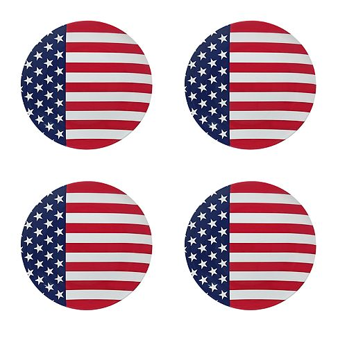 Celebrate Americana Together 4-pc. Flag Plate Set