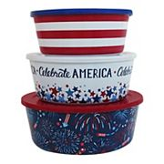 Celebrate Americana Together 3-pc. Stacking Bowl Set