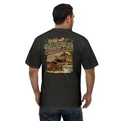 Big & Tall Newport Blue Waterfront Oasis Graphic Tee