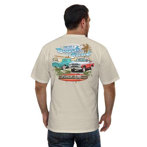 Big & Tall Newport Blue Beach Break Car Graphic Tee