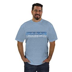 Big & Tall Newport Blue Surf Board Graphic Tee