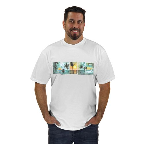 Big & Tall Newport Blue Paradise Found Graphic Tee