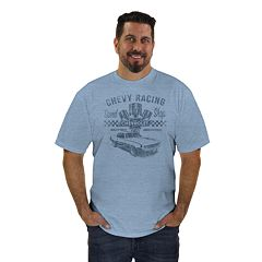 Big & Tall Newport Blue Chevy Racing Graphic Tee
