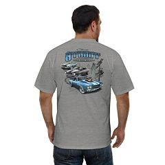 Big & Tall Newport Blue Street Iron and Muscle Car Graphic Tee