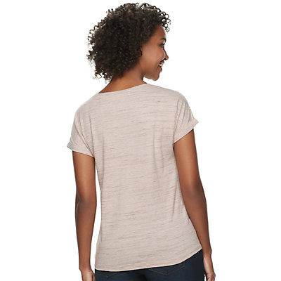 Women's SONOMA Goods for Life? Short Sleeve Dolman with Side Tie & Roll Cuff