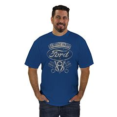 Big & Tall Newport Blue Classic Ford Graphic Tee