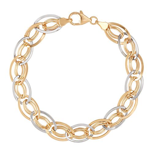 "10K Gold 8.5"" Fancy Link Bracelet"