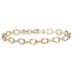 """10K Gold 8.25"""" Fancy Bracelet"""