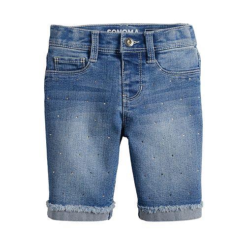 Girls 4-12 SONOMA Goods for Life™ Sparkle Denim Bermuda Shorts