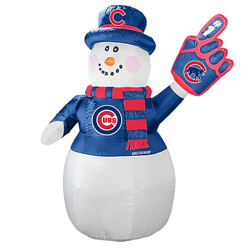 Boelter Chicago Cubs Inflatable Snowman