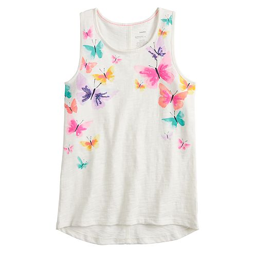 Girls 4-12 SONOMA Goods for Life™ Embellished Racerback Tank Top