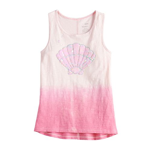 Girls 4-12 SONOMA Goods for Life™ Flip-Sequin Sea Shell Tank Top