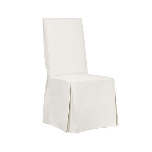 Sure Fit Essential Twill Scotchgard Relaxed Fit Box Seat Dining Chair Slipcover