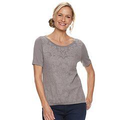 Women's Dana Buchman Jacquard Scoopneck Top