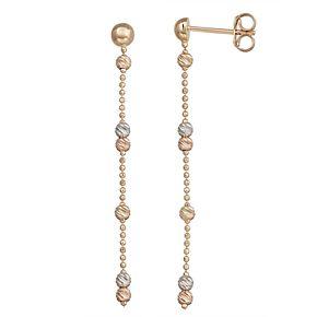 Forever 14K Gold Tri-Tone Dangle Earrings