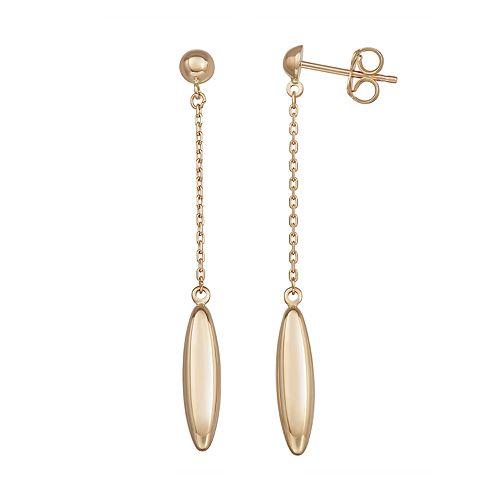 Forever 14K Gold Bead Dangle Earrings