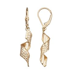 Forever 14K Gold Corkscrew Dangle Earrings