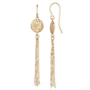 Forever 14K Gold Tassel Dangle Earrings