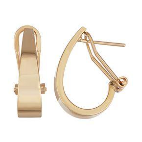 Forever 14K Gold Leverback Hoop Earrings