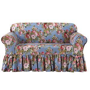 Cool Sure Fit Waverly Ballad Bouquet Loveseat Slipcover Theyellowbook Wood Chair Design Ideas Theyellowbookinfo