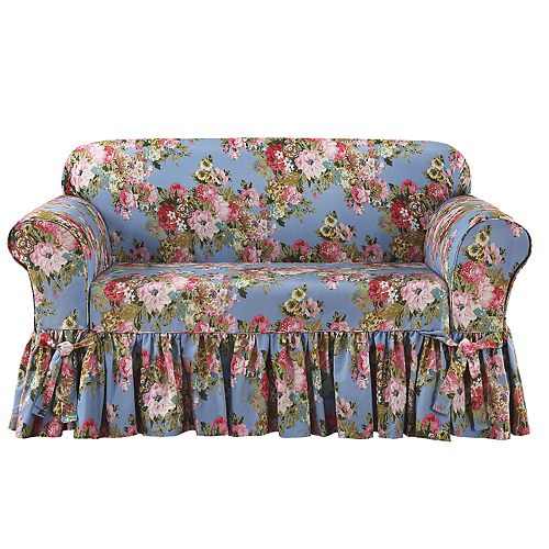 Sure Fit Juliet Relaxed Fit Box Seat Love Seat Slipcover