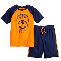 Boys 4-12 Jumping Beans® Active Tee & Short Set
