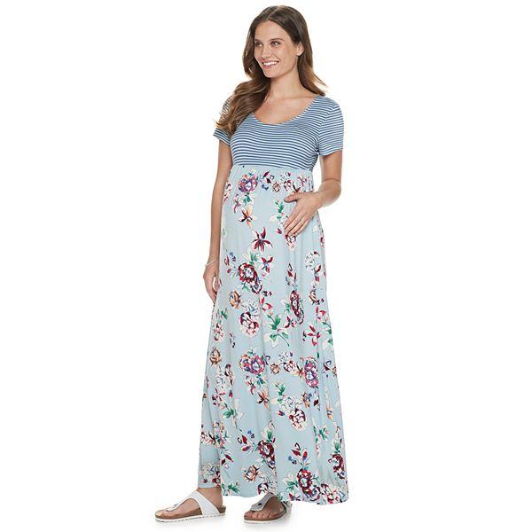 Maternity A Glow Scoopneck Maxi Dress
