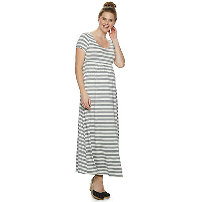 Maternity a:glow Scoopneck Maxi Dress
