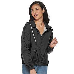 9e98ca59df1 Juniors  Pink Republic Hooded Windbreaker Jacket
