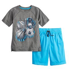 Boys 4-12 Jumping Beans® 'All Day' Sports Active Tee & Mesh Shorts Set