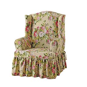 Sure Fit Juliet Relaxed Fit T Seat Wing Chair Slipcover