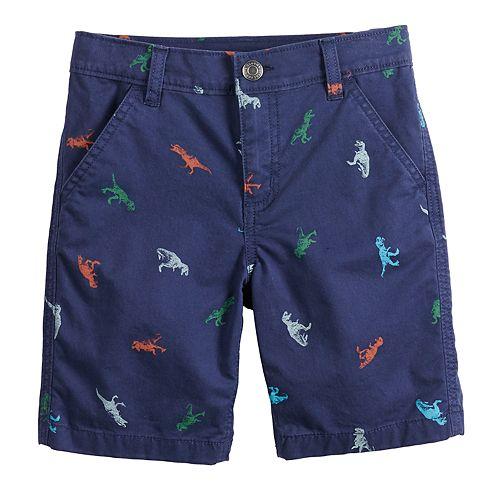 Boys 4-12 SONOMA Goods for Life™ Dinosaur Print Flat Front Shorts In Regular, Slim & Husky