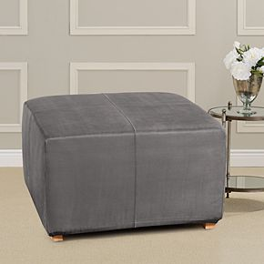 Sure Fit Ultimate Heavy Weight Suede Stretch Ottoman Slipcover