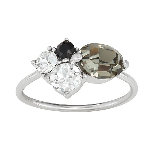 Sterling 'N' Ice Sterling Silver Cubic Zirconia Cluster Ring